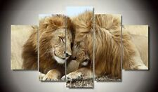 Decor Art Painting Animal Big Lion Wild Modern Picture Oil Canvas Wall No Frame
