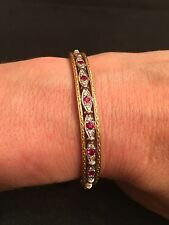 LOREE RODKIN Ruby & Diamond eyes 18K Yellow Gold Bracelet!