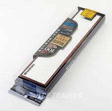 Genuine Napolex Broadway Wide View Mirror - Wood Grain Look 300mm Flat BW-326