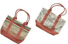 NWT AEROPOSTALE NEW CORAL STRIPED REVERSIBLE PURSE TOTE BAG BIRTHDAY GIFT