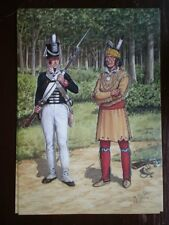 POSTCARD AMERICAN-INDIAN WARS - SHAWNEE WARRIOR - 4TH REGT US INFANTRY 1812