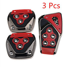 Red Manual Transmission Vehicles Nonslip Brake Clutch Accelerator Foot Pedal Red