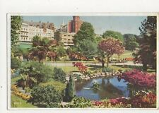 The Lily Pond Central Gardens Bournemouth 1958 Postcard 299a