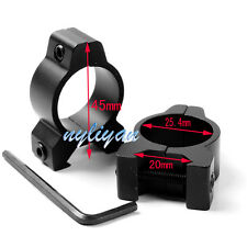 """Profile 25.4mm 1"""" Ring Low Scope Mount Fit 20mm Rail For Rifle Sight Flashlight"""