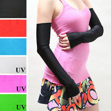 Black Opera Gloves PVC Shiny Long Arm Warmers Sexy Nylon Wetlook Vinyl Diy 1285