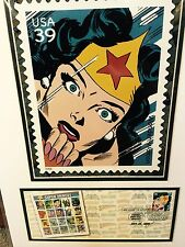 Wonder Woman USPS 1st DAY Issue SDCC 2006 Limited Edition Matted Poster 16 X 12