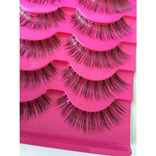 5 Pairs Makeup Handmade Natural Fashion Long False Eyelashes Beauty Tool HQ Best