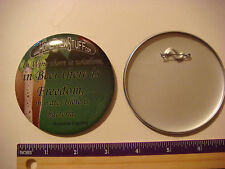 BEER BUTTON Pinback ~*~ Home Brew Stuff .com ~*~ Benjamin Franklin Freedom Quote