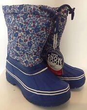 Bnwt joules filles imprimé bottes de neige effet matelassé upper-floral ditsy-taille 12