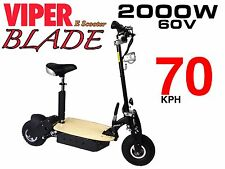 Electric Scooter 2000W 60V Viper Blade New 2016 Model, Terrain Tyres, 70KPH