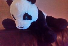 Ikea Kramig Panda Bear Soft Plush Cuddly BLACK white Comforter Toy teddy uc