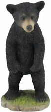 "5.75"" Black Bear Cub Standing Up Statue Animal Decor Figure Sculpture Wildlife"