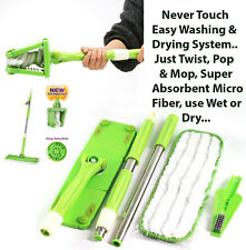 Twist FLAT MOP -Squeeze, Easy Rinse, Microfiber, Wrings Out with a Single Twist