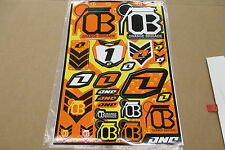 ONE BRIGADE ORANGE BRIGADE KTM UNIVERSAL GRAPHICS STICKERS 12X18 SHEET