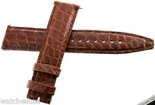 Authentic Corum 21 x 18mm Brown Alligator Leather Mens Watch Band Strap NEW