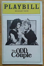 The Odd Couple Playbill Broadway programme Broadhurst Theatre 1985 Rita Moreno