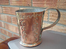 Antique Engraved/Etched Copper Cup or Mug