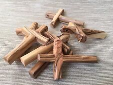 Set 7 Olive Wood Crosses Holy Land Jerusalem Bethlehem Cross Hand Made Crosses
