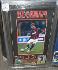 "David Beckham unsigned AC Milan 12""x18"" photo framed with plaque"