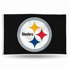 "Pittsburgh Steelers NFL Banner Flag 3' x 5' (36"" x 60"") ~ NEW"
