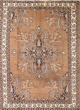 Antique Hand Knoted Brown/Grey 7x9 Ferdos Persian Oriental Area Rug 9' 4 x 6' 10