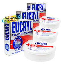 3x Eucryl Original Teeth Stain Removing Polishing Tooth Powder 50g