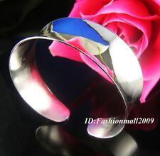 Bright! Thick silver Thin cuff bangle bracelets