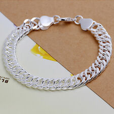 Classic 925 Sterling Silver Solid curb link Woman Man Bracelet BL-A217