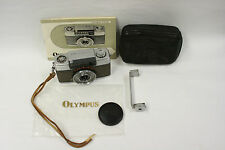 Olympus Pen-EE 35mm camera with flash brk., case, lens cap and inst. bk(Parts)