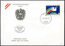 Austria 1986 Peace Year FDC First Day Cover #C18976