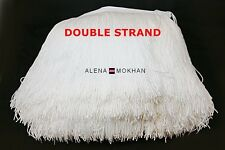 "1 yard 8"" DOUBLE STRAND White Chainette Fringe Dance Costume Lamp Trim"