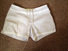 Womens Nike Athletic Gym Running Board Shorts Khaki Beige sz Small  Cotton GXN