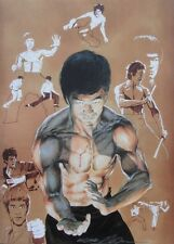 NEAL ADAMS rare BRUCE LEE print SIGNED color THE VERY BEST 1970s Cover LAST ONE