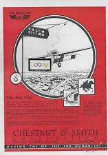 CHESTNUT & SMITH CORP OIL COMPANY TULSA NATURALINE MOTOR FUEL FOR FAST MAIL AD