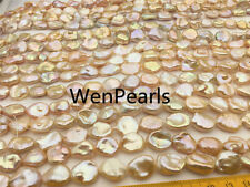 12-13x13-16mm,Pink Golden Keshi Pearls,good quality,full strand,wholesale price