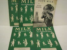MILK AN ALL AROUND  FOOD( 4)-MET LIFE  & SAFE MILK FOR GOOD HEALTH( 1 ) NYC
