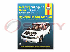 Nissan Quest Haynes Repair Manual GLE XE SE GXE Shop Service Garage Book iz
