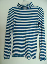 American Eagle Outfitter Women Striped Turtle neck  long Sleeve Top Shirt Sz S