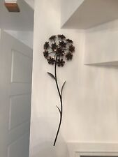 Contemporary Metal Wall Art Decor Sculpture - Elegant Bronze Coloured Flower