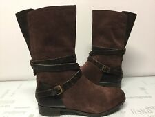 UGG Deanna Chocolate Brown Leather Suede 1001791 Boots Size 8.5 $220 Retail