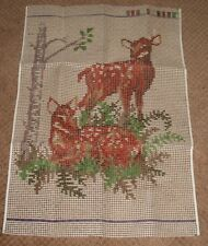 "Shillcraft/Readicut Latch Hook canvas - 222 Deer 27"" x 36"" - canvas w/recipe"