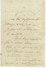 Lettera Autografo Politico Ministro Vincenzo Salvagnoli Governo Toscana 1837