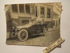 Belgien - 1915 - 4 Männer im Auto - Oldtimer / Foto