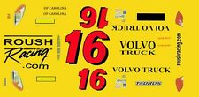 #16 Greg Bifflee Volvo truck 2013 1/64th HO Scale Slot Car Decals