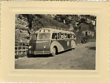 PHOTO ANCIENNE - VINTAGE SNAPSHOT - BUS CAR AUTOBUS AUTOCAR EXCURSION