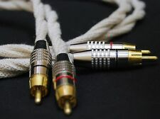 AUDIO CABLE Pure Silver Cotton Interconnect RCA to RCA 2 x 1 m Hi End