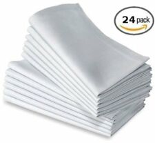 "20""X20""  White Dinner Napkins 24pk 100% Cotton"