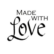 Made With Love Unmounted rubber stamp, #15