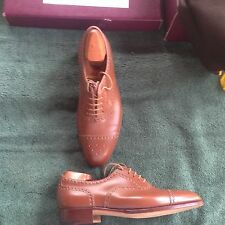 John Lobb Shoes,Sandalwood Brogue Oxford,Toe Cap,Bespoke,Approx Size 7D,Tan