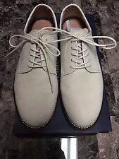 G.H. Bass & Co. Buckingham Men Round Toe Suede Nubuck White Oxford size 9